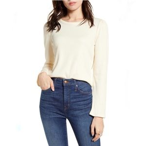 Madewell Philly Ribbed Crew Neck in Antique Cream